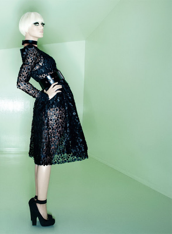 Katy Perry in ablack dress for Vogue Italy July 2012