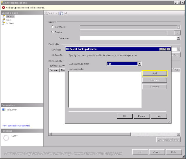 Restore SharePoint Content Database on SQL Server