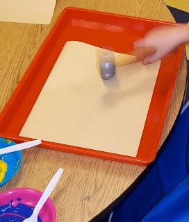 Hammer painting for preschoolers (Brick by Brick)