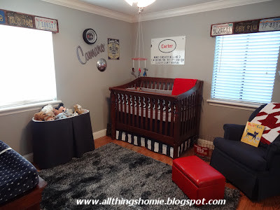 All Things Homie: Carter's Vintage Chevy Nursery Reveal!