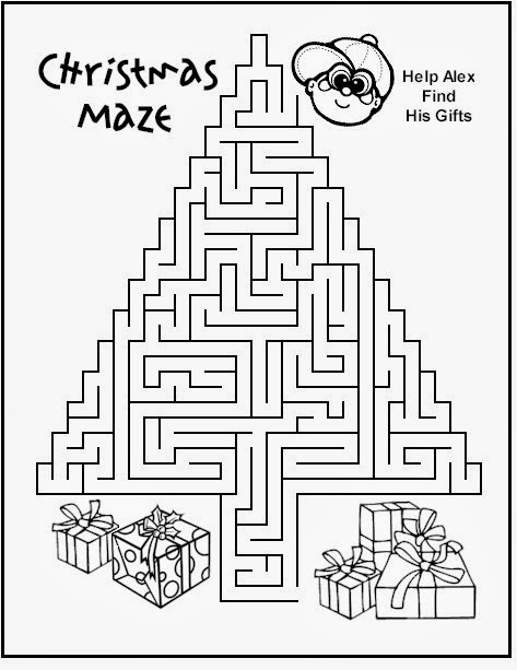 graphic relating to Christmas Printable Activities identified as 5 Xmas Tree Mazes Printable for Little ones