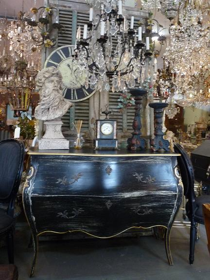 sorrunded with all the magnificent antique chandelier