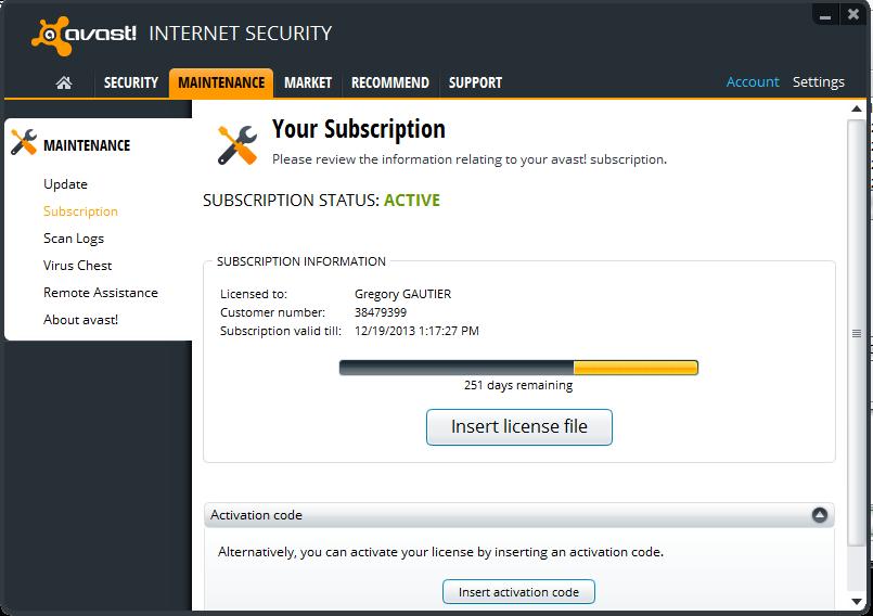Avast Internet Security 2013