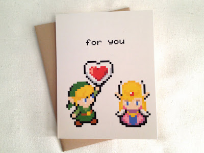 Gaming Crafts and Nerdy Gifts Valentines Day – Legend of Zelda Valentine Card