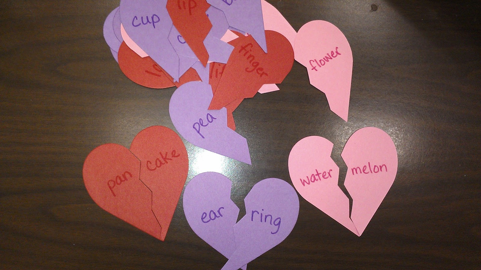 Apples to Applique: Compound Word Hearts