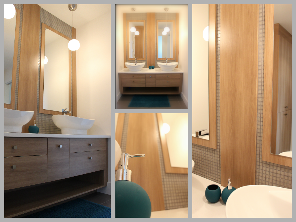 Un salon moderne for Cabinet de salle de bain