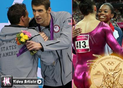 Michael Phelps & Gabby Douglas Win Big at London's Olympic Games » Gossip | Michael Phelps | Gabby Douglas