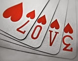 ljubavna slika: love herz karte natpis
