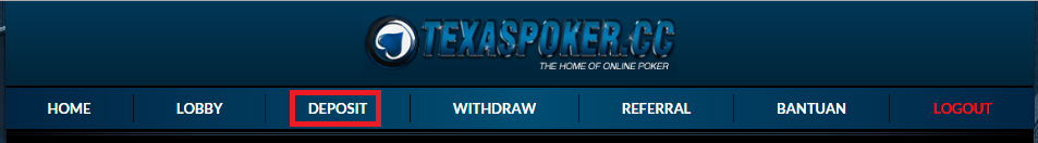 Cara Deposit Dan Withdraw TexaspokerCC