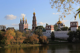 Novodevichy Monastery in Fall