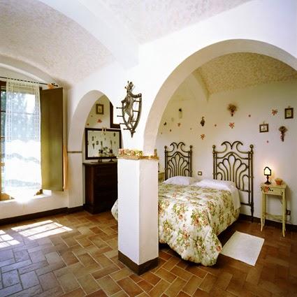 Camera dell agriturismo Aia Vecchia di Montalceto