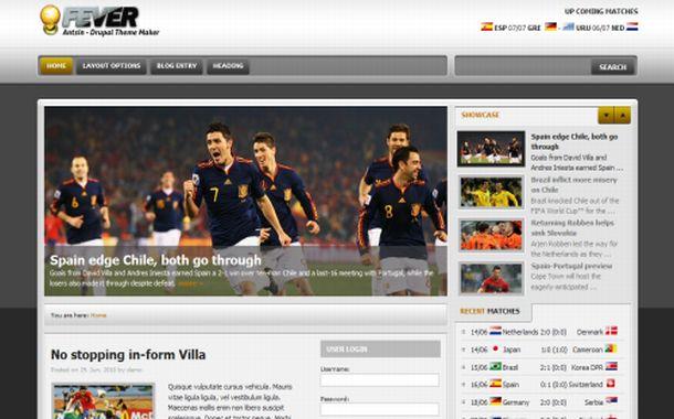 Free Joomla Soccer Green Template - Soccer website templates