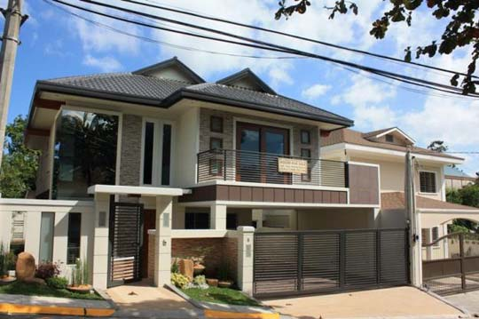Modern asian exterior house design ideas home decorating for Front house exterior design