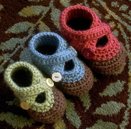 Crochet Patterns baby booties scarf headband scrubbies by ketzl