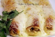 Green Chili and Pepper Jack Chicken Enchiladas