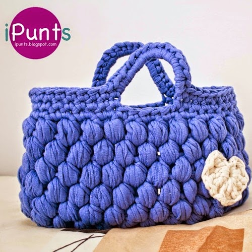 Patrones trapillo bolso puffy de trapillo for Bolsos de crochet de trapillo