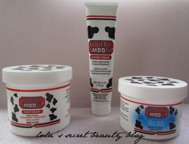 lola's secret beauty blog: Dry Skin Blues? Dry Udderly Smooth Body Cream, Crème Hydrante & Shea Butter Foot Cream