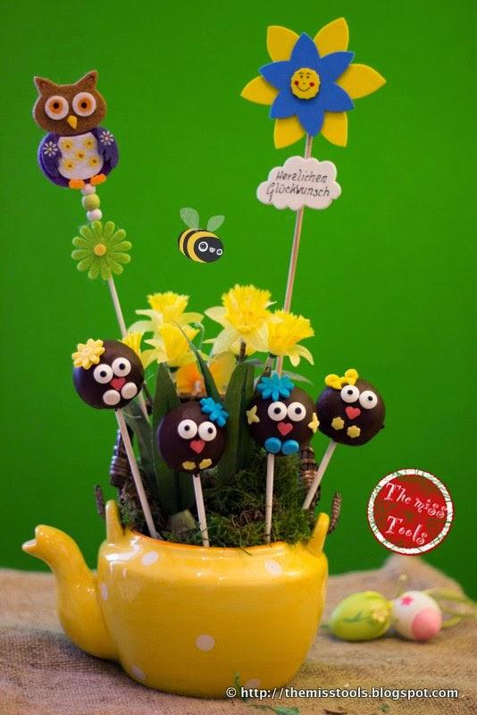 Cake-Pops Pasquali (preparati con la piastra) - Easter Cake-Pops (made with cake-pops maker)