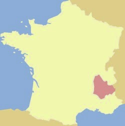 Map of France showing province of Dauphiné