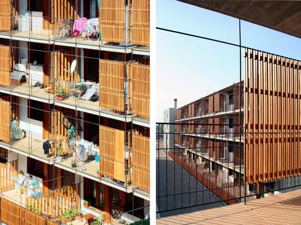 Celos as de madera en estas 80 viviendas de vpo en salou for Celosias para interiores