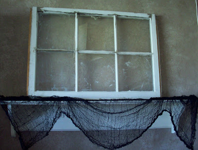 old+window Halloween Mantle Inspired by Edgar Allen Poes The Raven