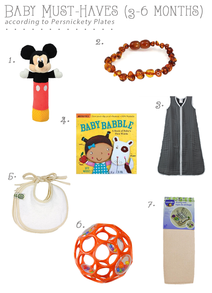 Baby Must-Haves (3-6 Months)   Persnickety Plates