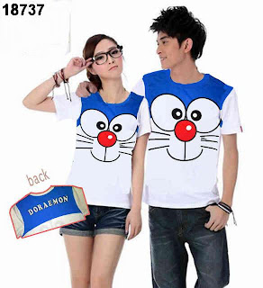 Kaos couple doraemon