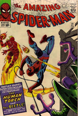 Amazing Spider-Man #21, the Beetle and the Human Torch