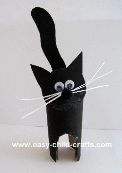 Craft Ideas  Toilet Paper Rolls on Child Care Crafts Posted A Simple Cat Craft Using A Toilet Paper Roll