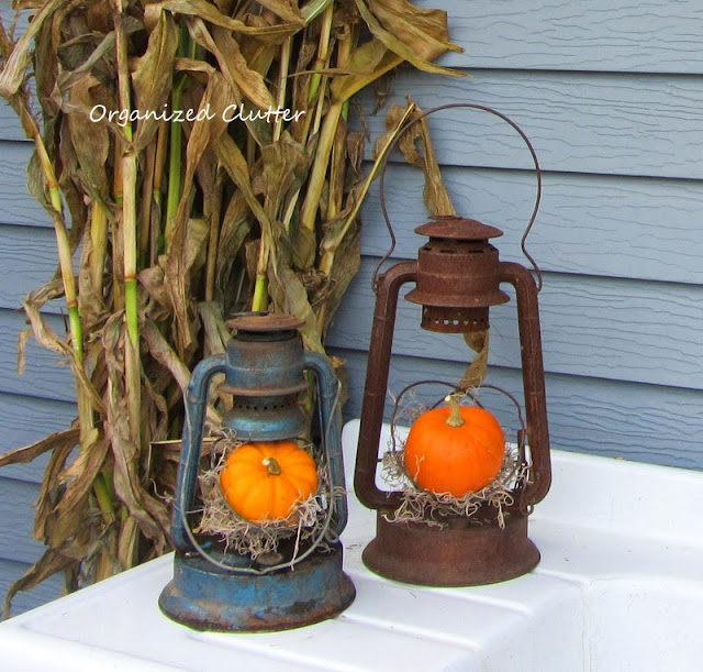 Vintage Rustic Fall Lanterns