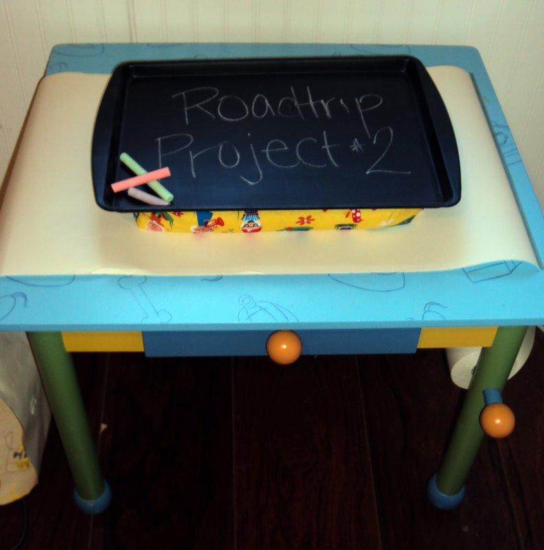 Elle Belle Creative: Roadtrip Project #2 - Magnetic Chalkboard Lap-desk