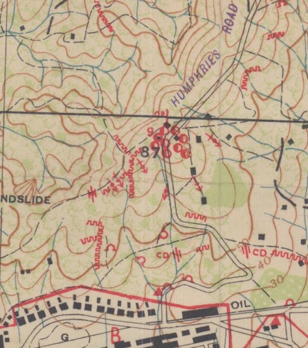 Map of the week secret map of the battle of balikpapan when this area was finally secured they moved on to capture newcastle hill 99 on the right edge of the map below this high area overlooks the town and gumiabroncs Choice Image