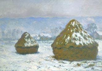 Monet, meules effet de neige
