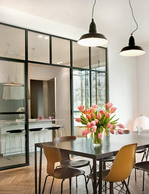 10 interiores con puertas de cristal y marco negro10 - Puertas interior cristal ...