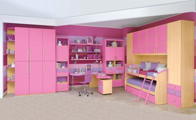 Habitaciones con estilo: DORMITORIOS DE NIÑA EN ROSA Y LILA