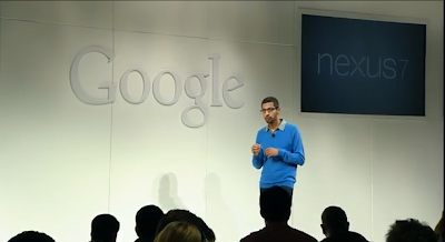 Sundar Pichai at New Nexus 7 launch photo