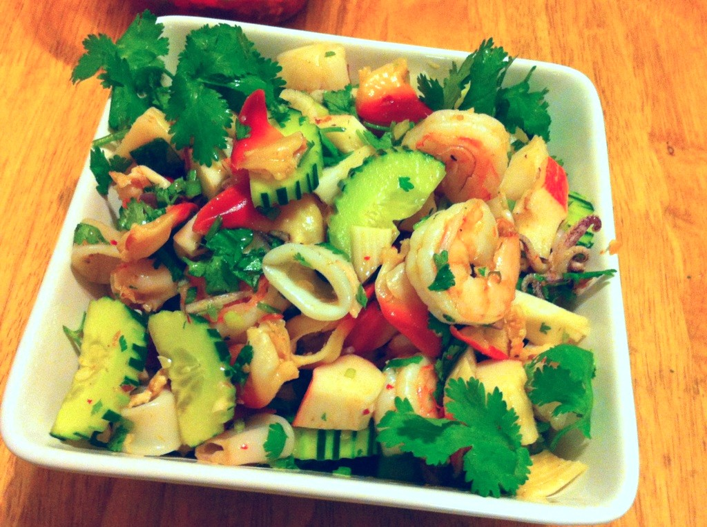 Underground socialite the art of making laothai spicy seafood the art of making laothai spicy seafood salad photo recipe forumfinder Image collections