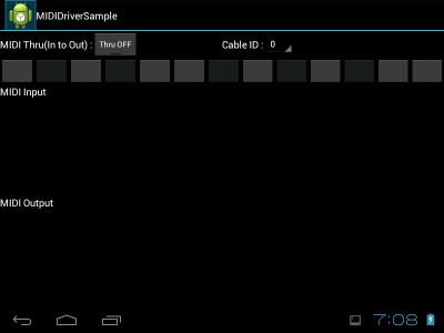 MIDIDriverSample スクリーンショット