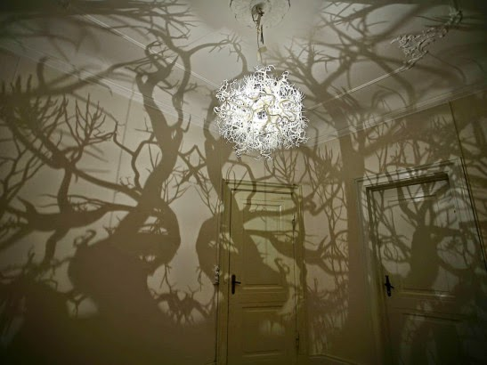 Weirdwood forms in nature this magnificent chandelier is partly inspired by the mirrored drawings of the natural world by ernst haeckel aloadofball Gallery