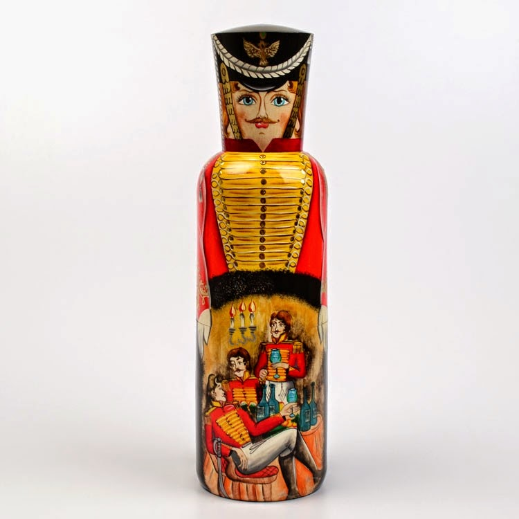 Russian Bottle Holder for Groom or Men