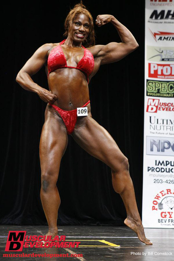 Tracy Hess Flexing Her Muscles At The 2009 Team Universe Competition