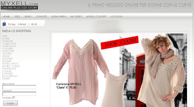 MyXell.com, il primo negozio online per donne con le curve