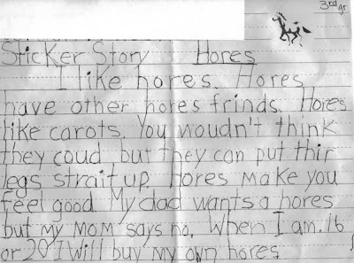 children's story about horses - hores