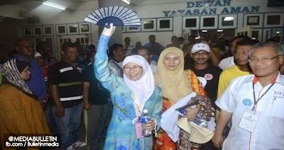 Datuk Seri Dr Wan Azizah Wan Kembali Ke Permatang Pauh Dengan Undi Majoriti 8 841 undi