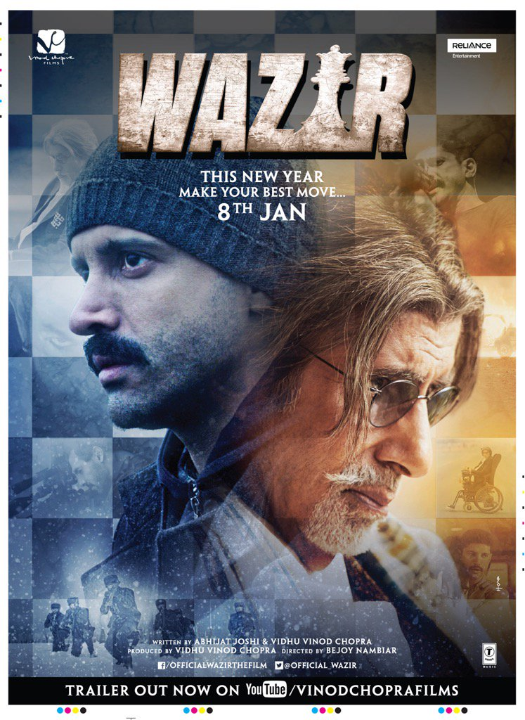 Wazir 2016 Hindi 720p DVDScr 700mb MSubs