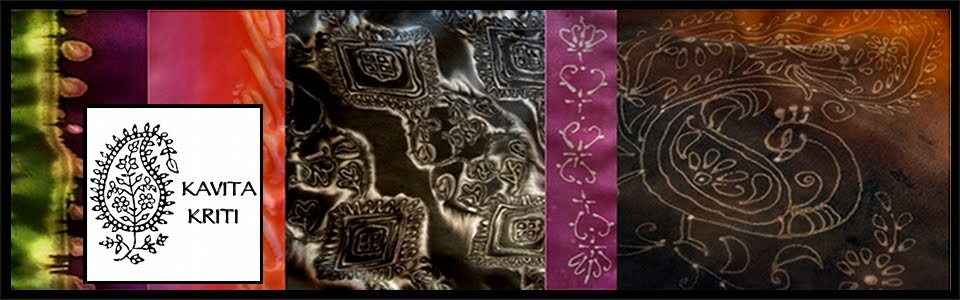 Kavita Kriti - Indian Silk Designs. Hand Painted. Handmade.