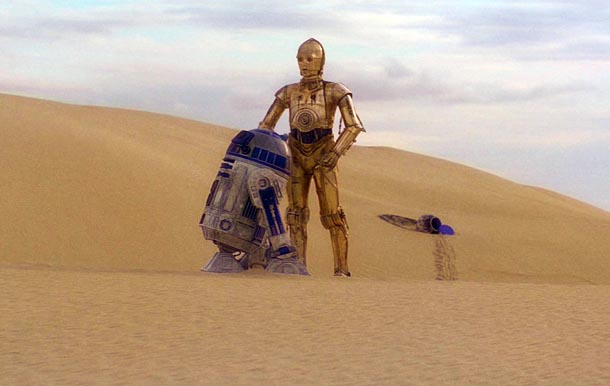 R2d2 And C3po Desert The Watchers Film Show...