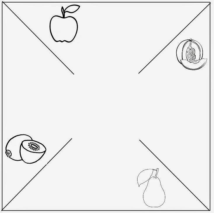 girandola della frutta (pere, mele, meloni, kiwi)
