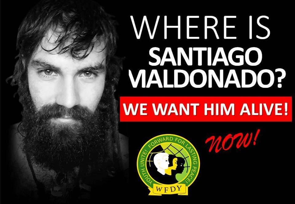 Aparición con vida de Santiago Maldonado