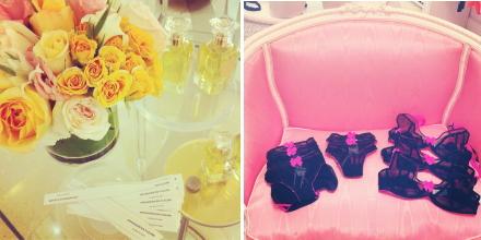 claudette, dessous sucre, faire frou frou, pink, flowers, perfume